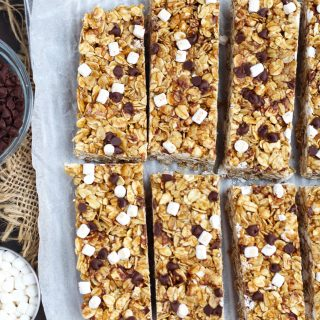Homemade Smore's Granola Bars are the perfect easy, snack for kids.