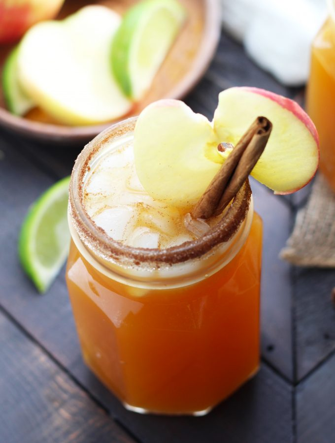 This Best Apple Cider Margarita requires few ingredients. Make a pitcher of it for fall entertaining.
