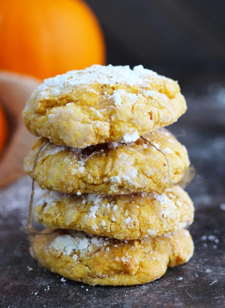 Pumpkin Gooey Butter Cookies 3 Yummy Tummies