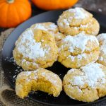 These Pumpkin Gooey Butter Cookies are super easy to make with cake mix, cream cheese and butter.