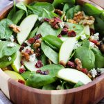 Apple Cranberry Spinach Salad with Candied Walnuts
