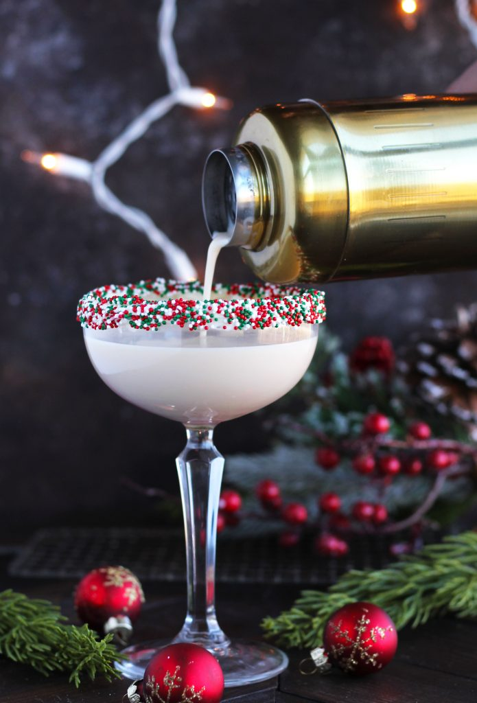 Drink your dessert with this creamy Sugar Cookie Martini with Baileys and Vanilla Vodka.