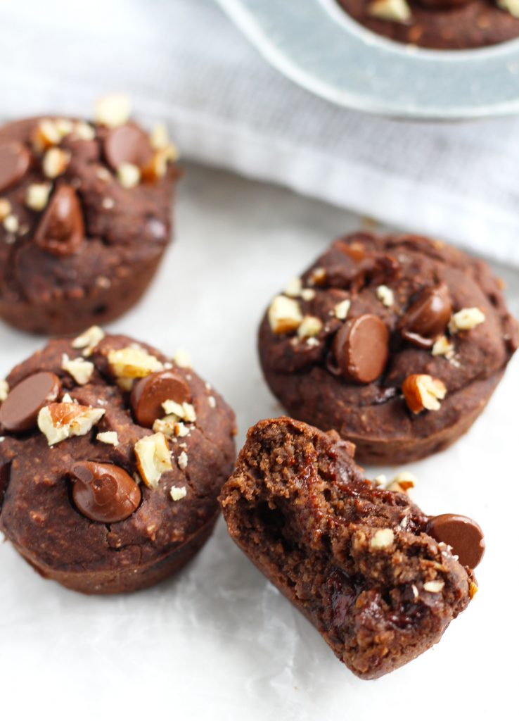 These Black Bean Brownie Bites are gluten and guilt-free without sacrificing that rich, chewy taste. They stay moist with the addition of applesauce and get their sweetness from pure maple syrup and chocolate chips. It's hard to believe how good these really are!