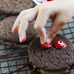 These Chocolate Spider Whoopie Pies are so fun to make with the kids for Halloween. The cookies are made with chocolate fudge cake mix and get sandwiched together with a dreamy, chocolate marshmallow creme filling.