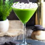 This Baileys Chocolate Mint Martini is so flavorful and a fun way to bring a little green to your spring or St. Patrick's Day.